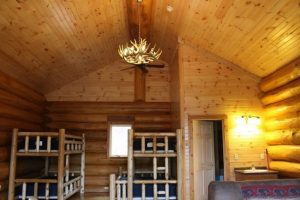 aqua log cabin full room