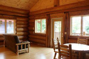 aqua log cabin interior